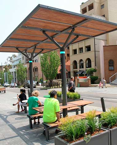 photovoltaic street furniture sidney onyx solar