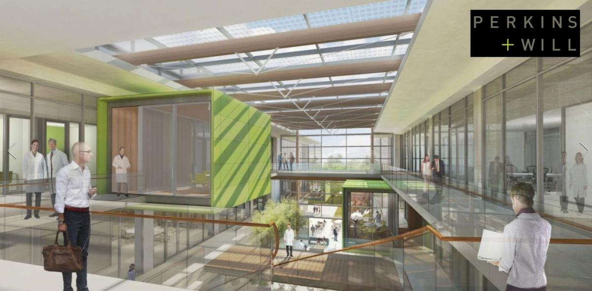 New transparent PV glass skylight in California designed by Perkins+Will