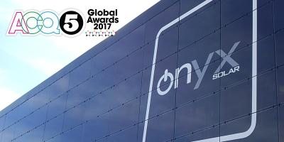 ONYX SOLAR: SOLAR ENERGY COMPANY OF THE YEAR